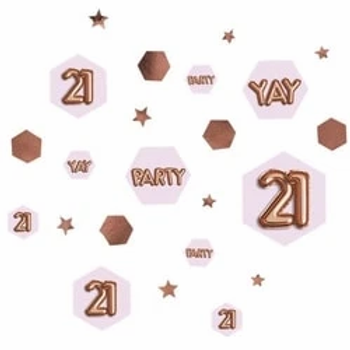 21st Birthday Glitz And Glamour Table Confetti