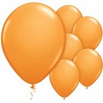 "Orange 11"" Balloons"