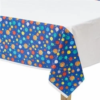 Blast Off Party Plastic Tablecover