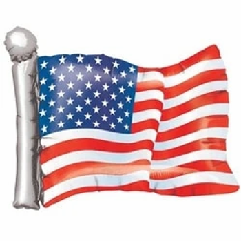 American Flag Supershape Balloon
