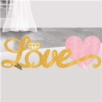Love Glitter Party Table Decoration