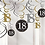 18th Celebration Gold And Silver Party Hanging Swirls