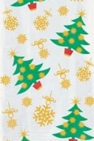 Golden Christmas Tree Cello Party Bags