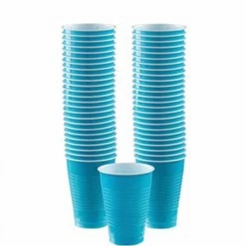 Party Cups Size 473ml Turquoise
