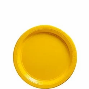 Yellow Party Paper Plates