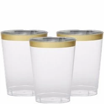 Gold Trim Tumblers Size 295ml