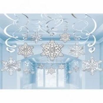 Snowflakes Paper & Foil Hanging Decorations