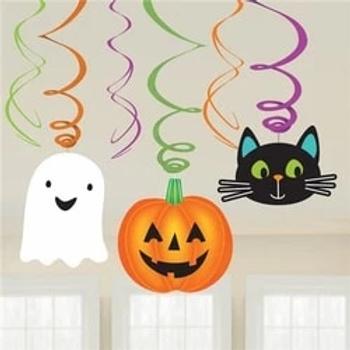 Halloween Friends Hanging Swirls