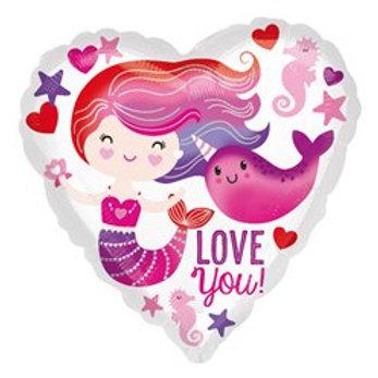 Love You Foil Balloon
