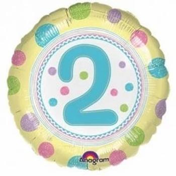 """Spot On 2nd Birthday 18"""" Foil Balloon"""
