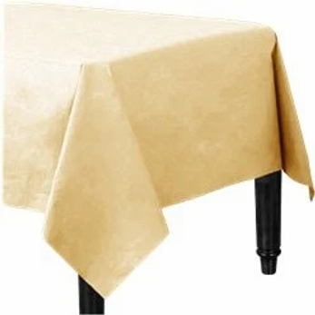 Ivory Plastic Lined Tablecover