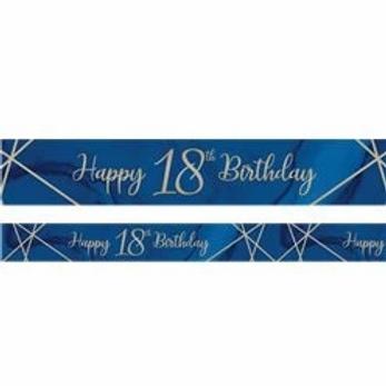 18th Birthday Navy And Gold Birthday Banner
