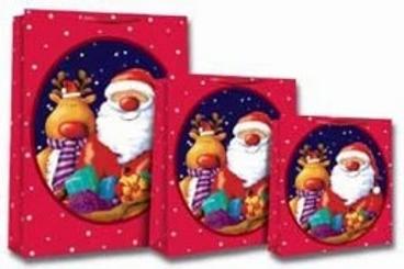 Cute Santa And Reindeer Gift Bags