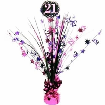 21st Pink Table Spray Centrepiece
