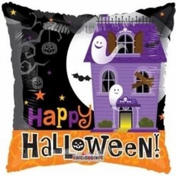 "Happy Halloween Haunted House Foil Balloon 18"""