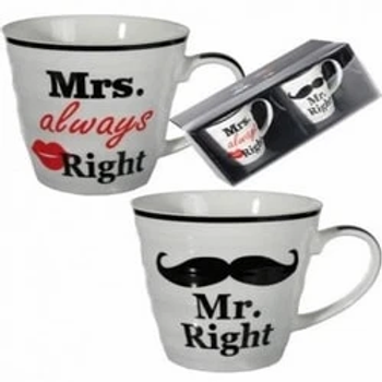 Mr Right And Mrs Always Right Mug Gift Sets