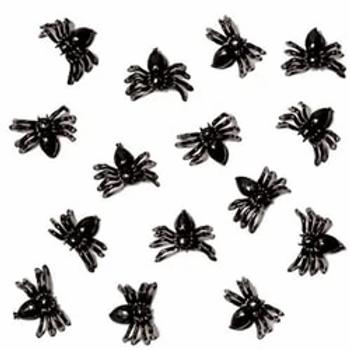Halloween Black Mini Spiders