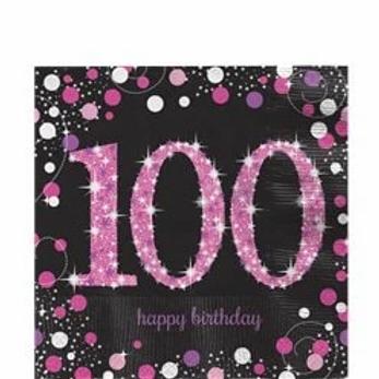 100th Birthday Party Napkins