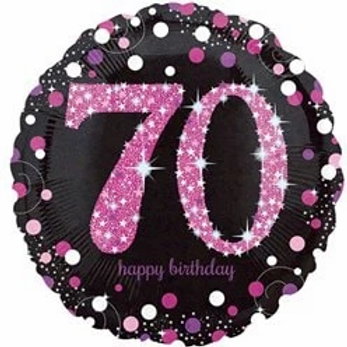 70th Birthday Party Foil Balloon Pink