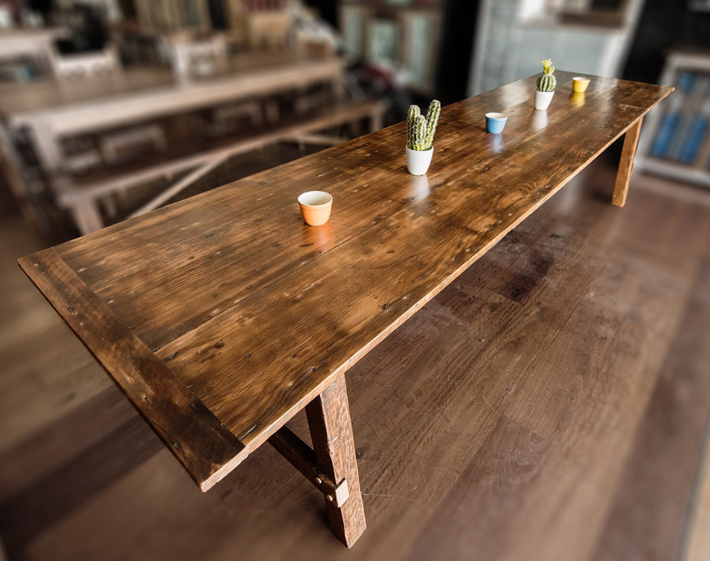 Recycled Timber Banquet Table