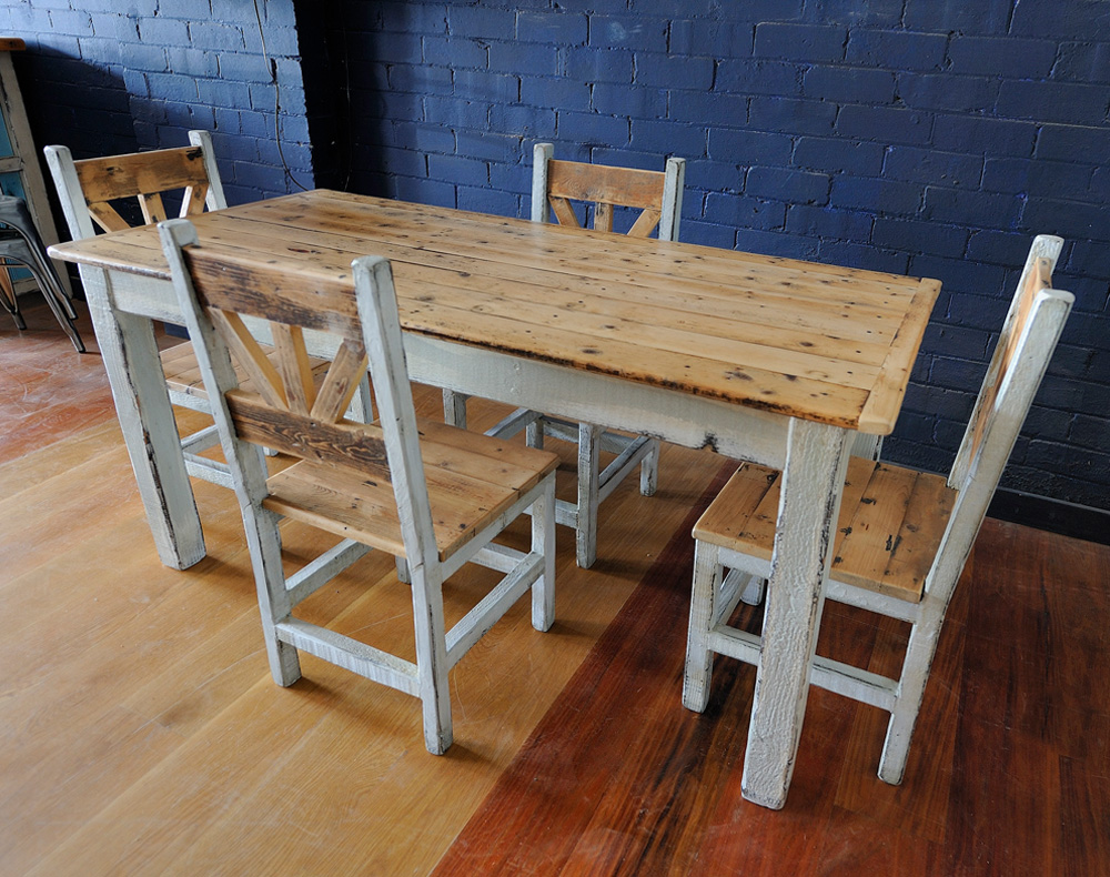 Reclaimed Timber Dining Setting