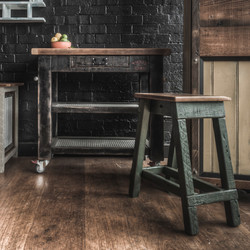 Black Kitchen Block & Stool