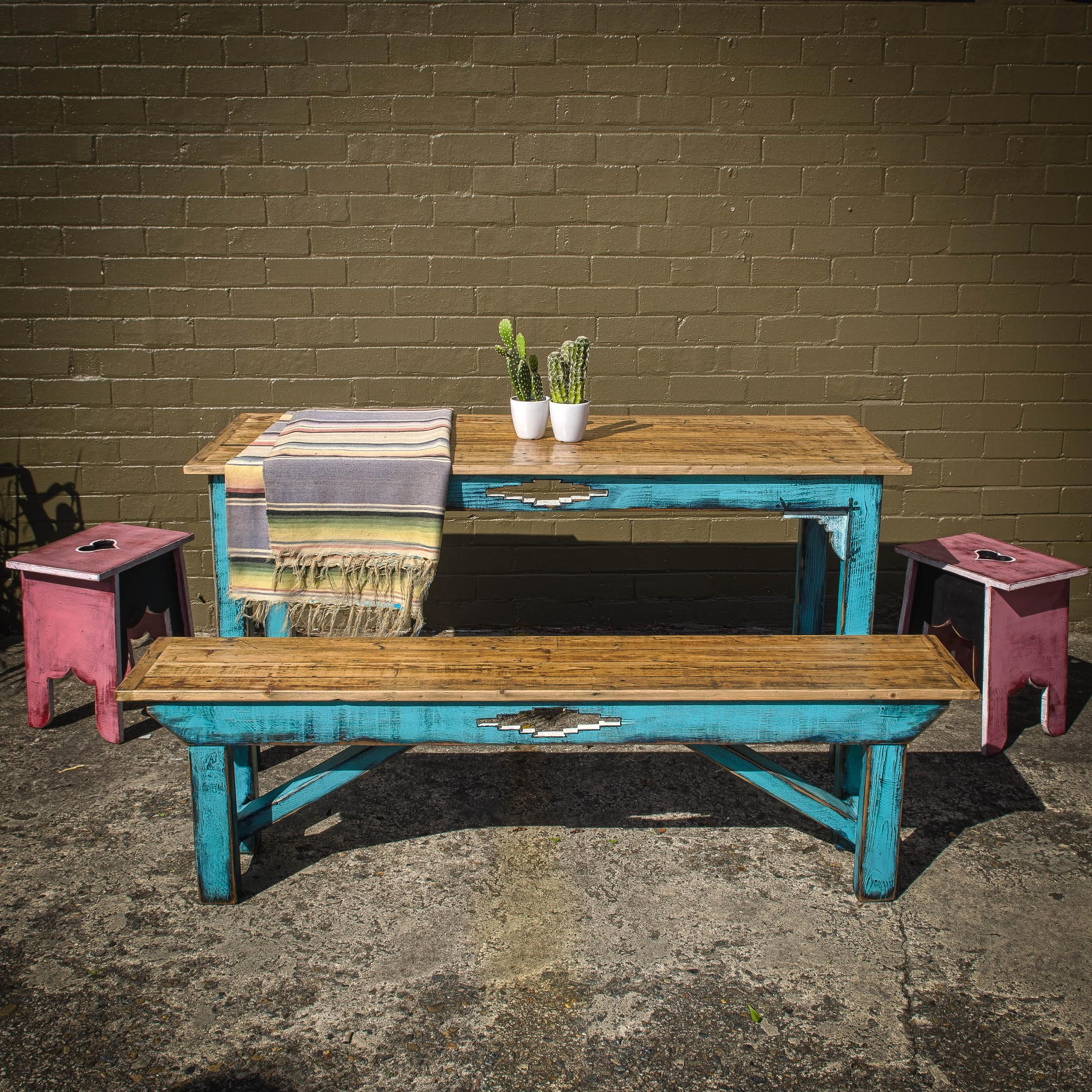Santa Fe Style Table and Benches