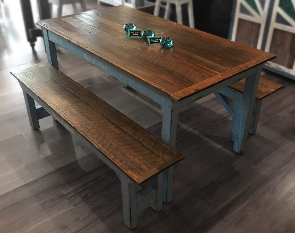 Recycled Timber Table & Benches