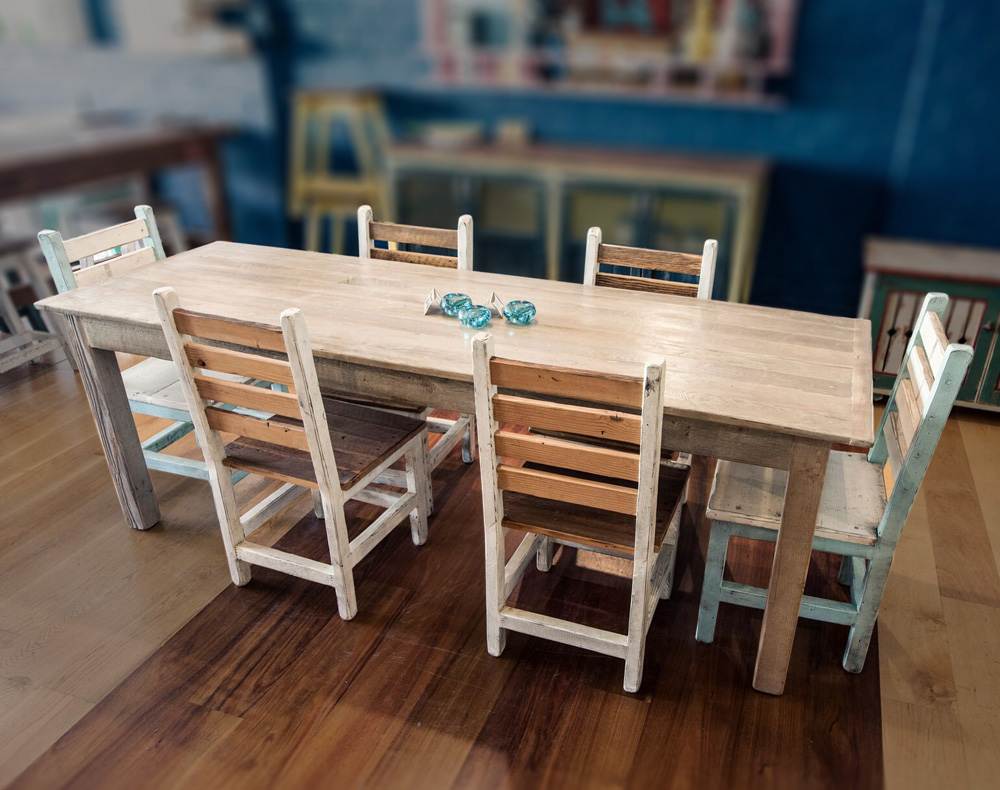 Lime Wash Dining Table