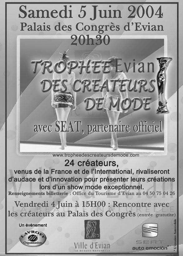 Trophée Evian des créateurs 2003