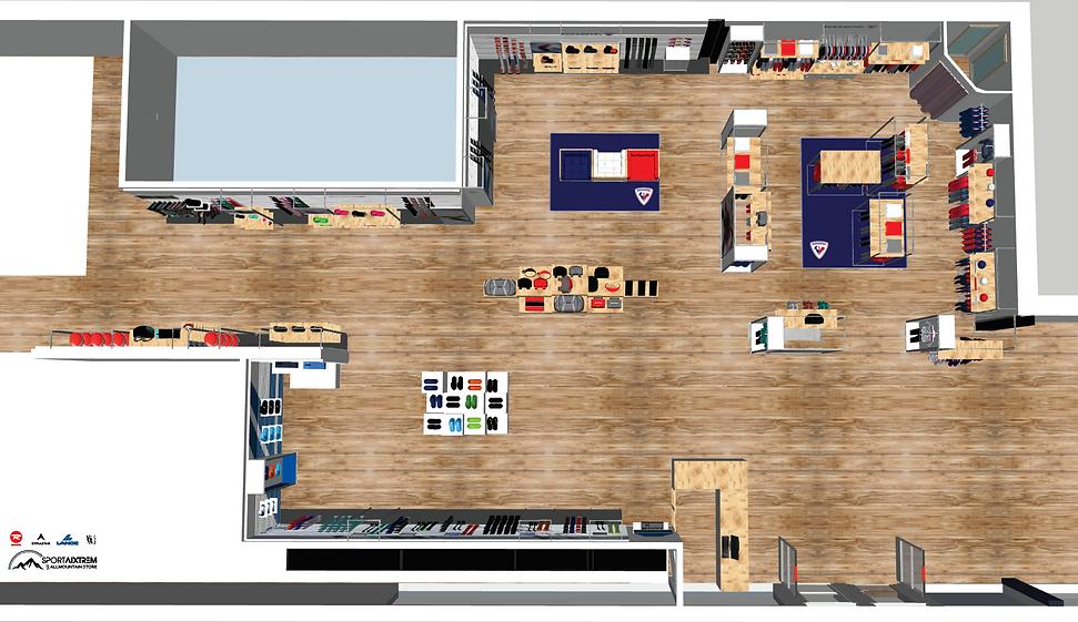 agencement décoration  boutique sport shop in shop corner la beauté-intérieurs grenoble