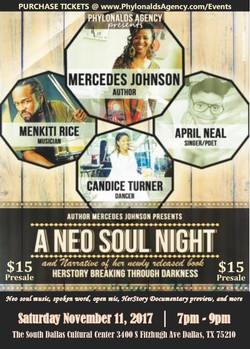 neo soul night 11.11 postcard