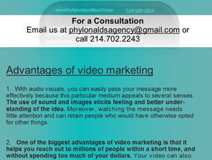 Exposure from Video Production & SEOs