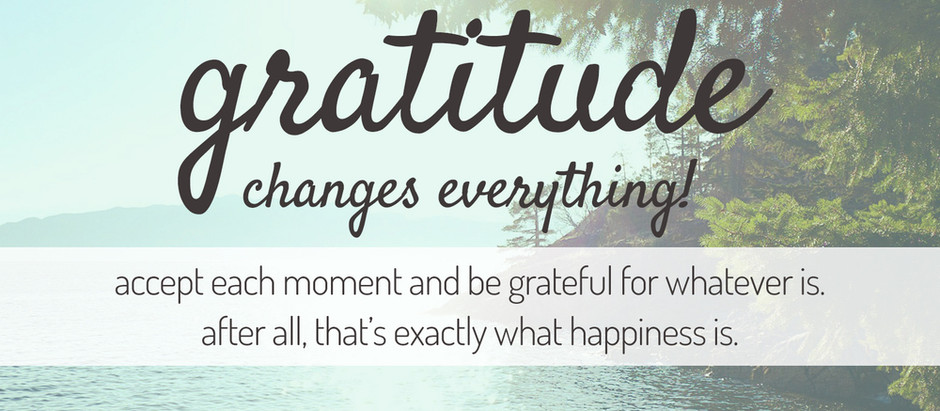 What are you grateful today?