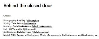 BEHIND THE CLOSED DOOR
