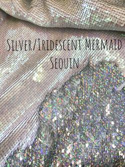 Silver/Irridescent Mermaid Sequin