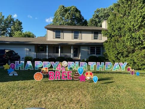 Bree is 4!