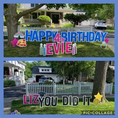Evie is 4 & Congrats, Liz!