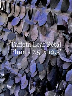 Taffeta Leaf Petal -Plum