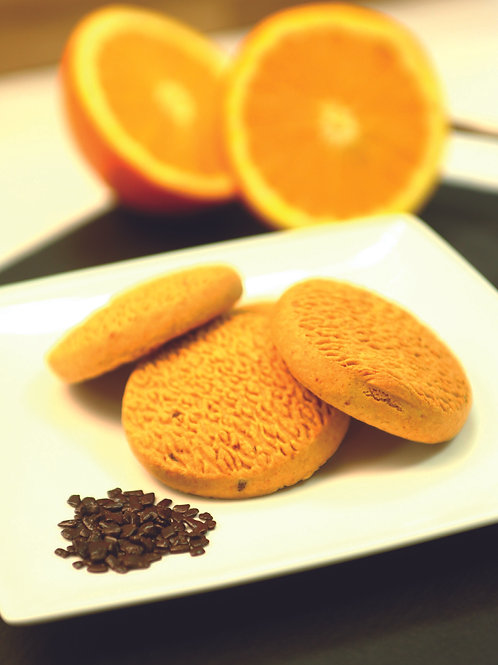 Biscuit à l'orange et pépites de chocolat spécial diète et minceur