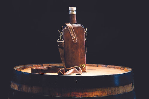 Brown Leather Water Bottle