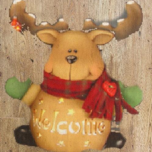 Personalized Bundle up Reindeer