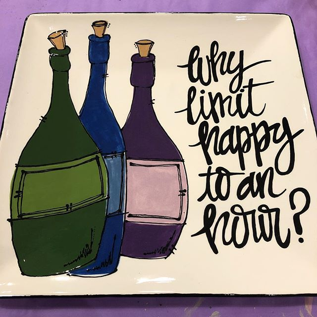 Happy Friday! 🍷🍸🍾🍺 #kilncreations #paintyourownpottery #pyop #potterypainting #happyhour #happyf