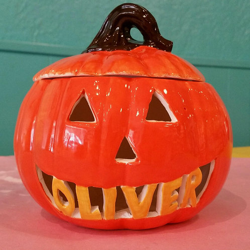 6 inch Personalized Pumpkin
