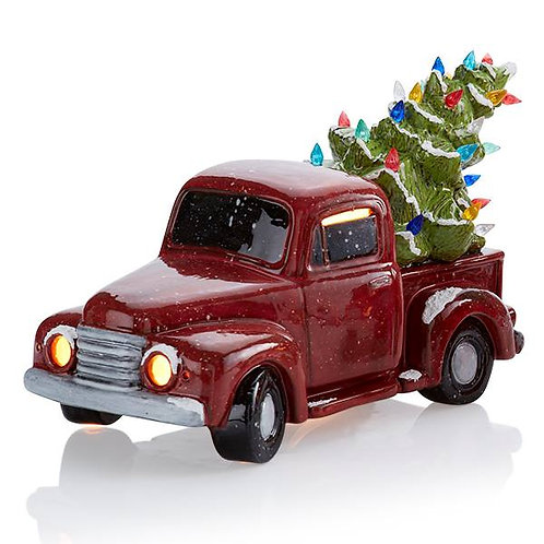 Lighted Vintage Truck with Tree