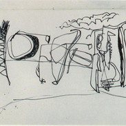 """CANNELLISM: """"The Duck Pond"""" 1992 Pen on Paper"""