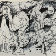 """CANNELLISM: """"Drawing"""" 1992 Pen on Paper"""
