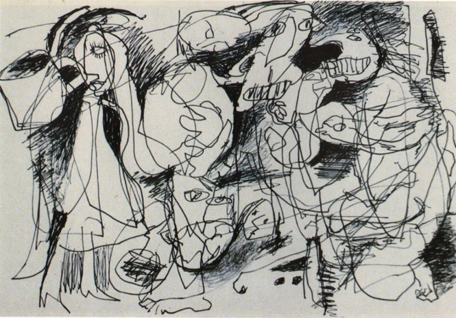 Drawing 1992 Pen on Paper