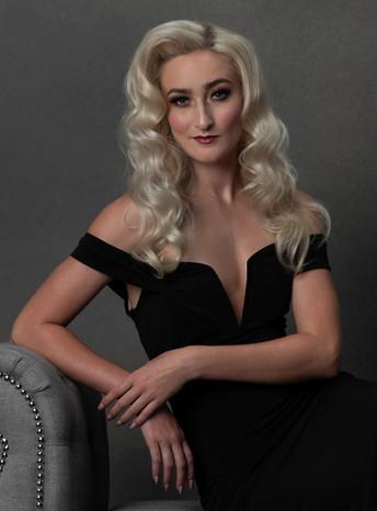 Meg Klinger black macys dress look 4 por