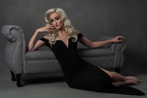 Meg Klinger black macys dress look 8 por